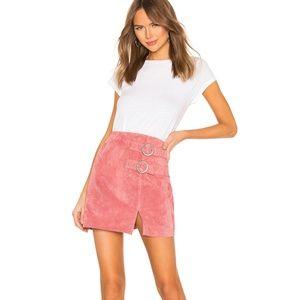 NWT Blank NYC Suede Buckle Skirt